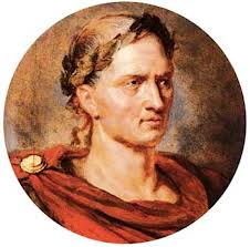 Julius Caesar with laurels