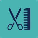 Cutting hair symbol