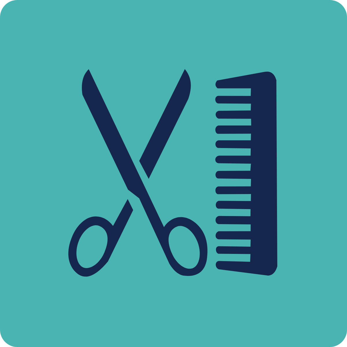 Cutting hair symbol